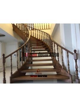 پله گرد - پله پیچ - پله مارپیچ - پله حلزونی -پروژه شهریار5 - نرده شیشه  -نرده فرفورژه  - نرده چوبی