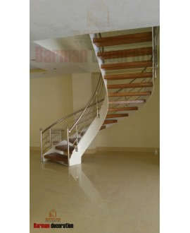 پله پیچ - نرده استیل
