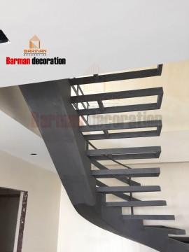 پله گرد نرده کابلی